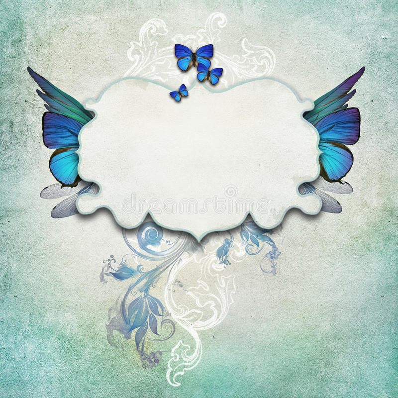 Download Vintage Background With Butterflies Stock Photo - Image of paper, parchment: 39502256