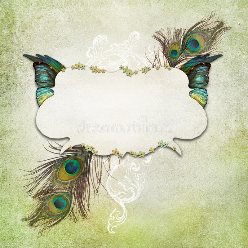 Download Vintage Background With Butterfly Stock Photo - Image of grunge, golden: 39502364