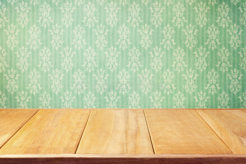 Vintage background with classic wallpaper royalty free stock photo