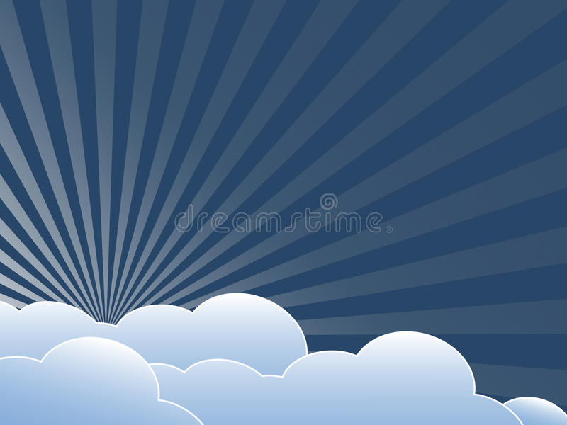 Vintage background with clouds stock illustration