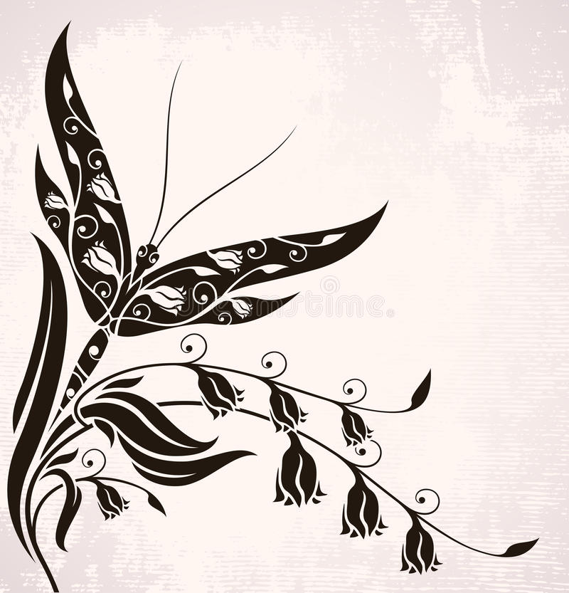 Download Vintage Background With Dragonfly Royalty Free Stock Images - Image: 23285409