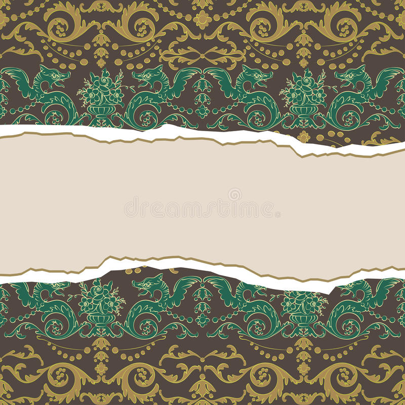 Download Vintage Background With Dragons Stock Vector - Illustration: 42904187