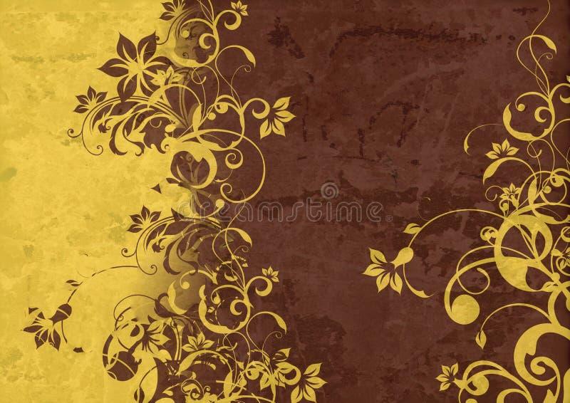 Vintage background - Flower abstraction vector illustration