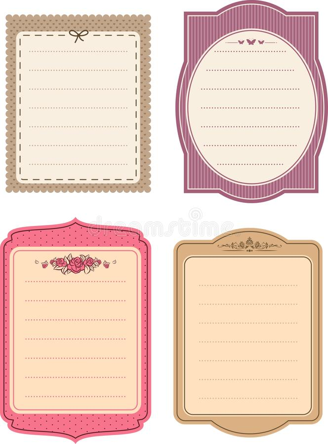 Vintage background with flowers. royalty free illustration