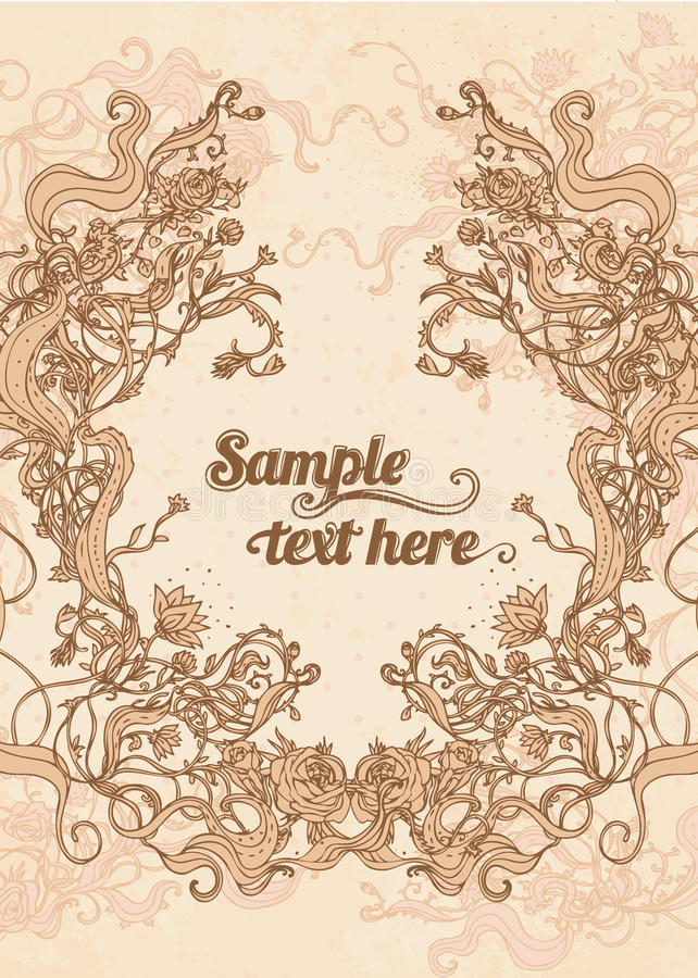 Vintage background with flowers vector illustration