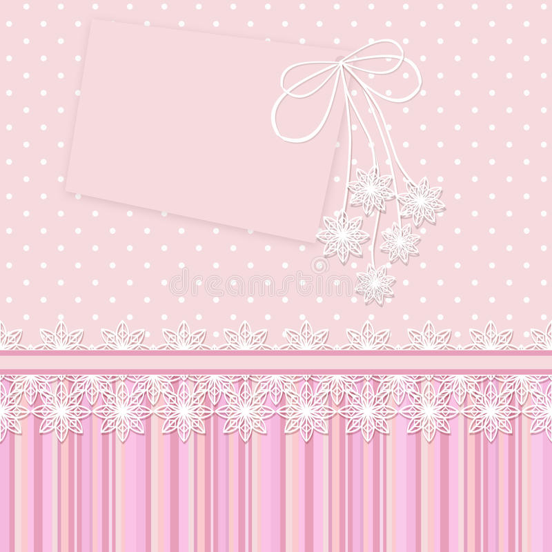 Vintage background with flowers for congratulations and invitations, and album pages. stock illustration