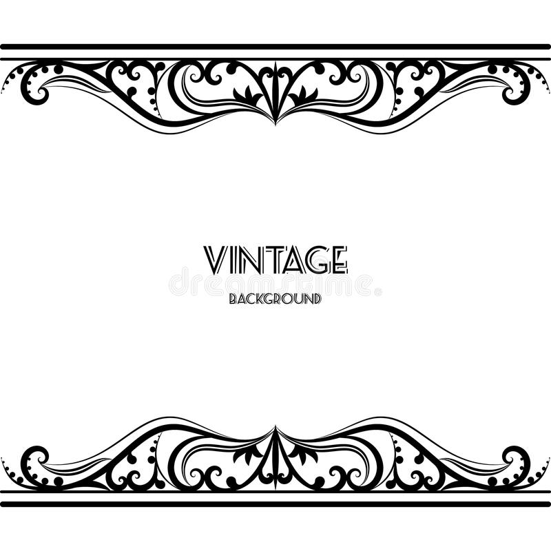 Vintage Background Frame Design Black Vector Stock Vector ...