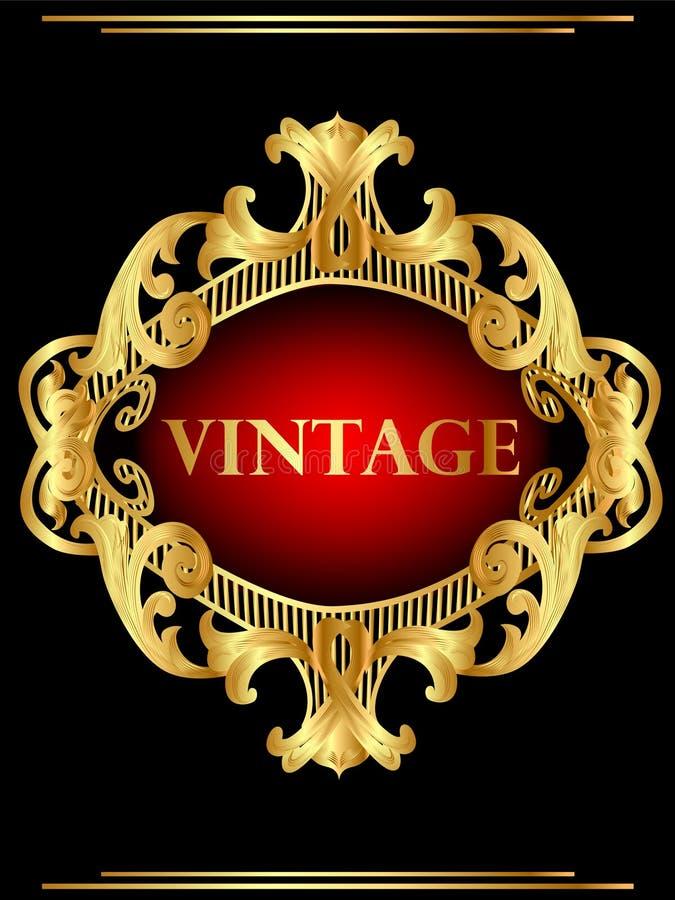 Download Vintage Background Frame With Gold(en) Pattern Royalty Free Stock Image - Image: 22051496