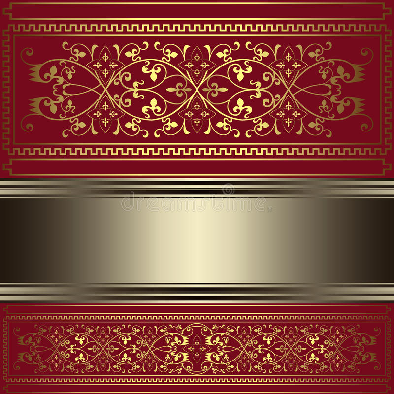Download Vintage Background With Gold Floral Ornaments Stock Vector - Illustration: 42904226