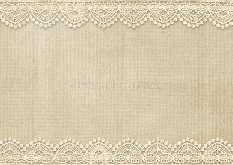 Vintage Background With Gorgeous Lace Stock Illustration