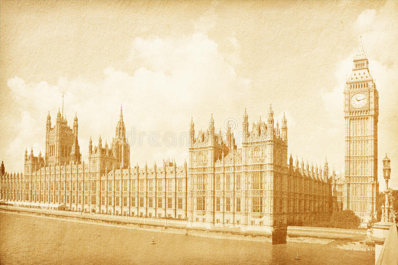 Download Vintage Background With Houses Of Parliament Stock Photo - Image of photography, bridge: 23977868