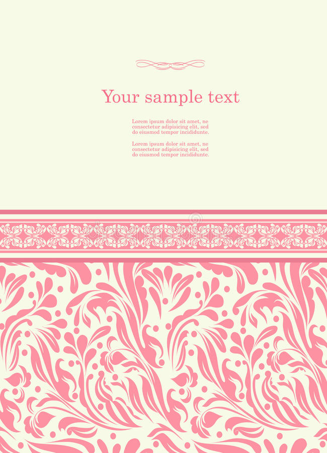 Vintage background for invitation card vector stock vector download vintage background for invitation card vector stock vector illustration of hand background stopboris Image collections