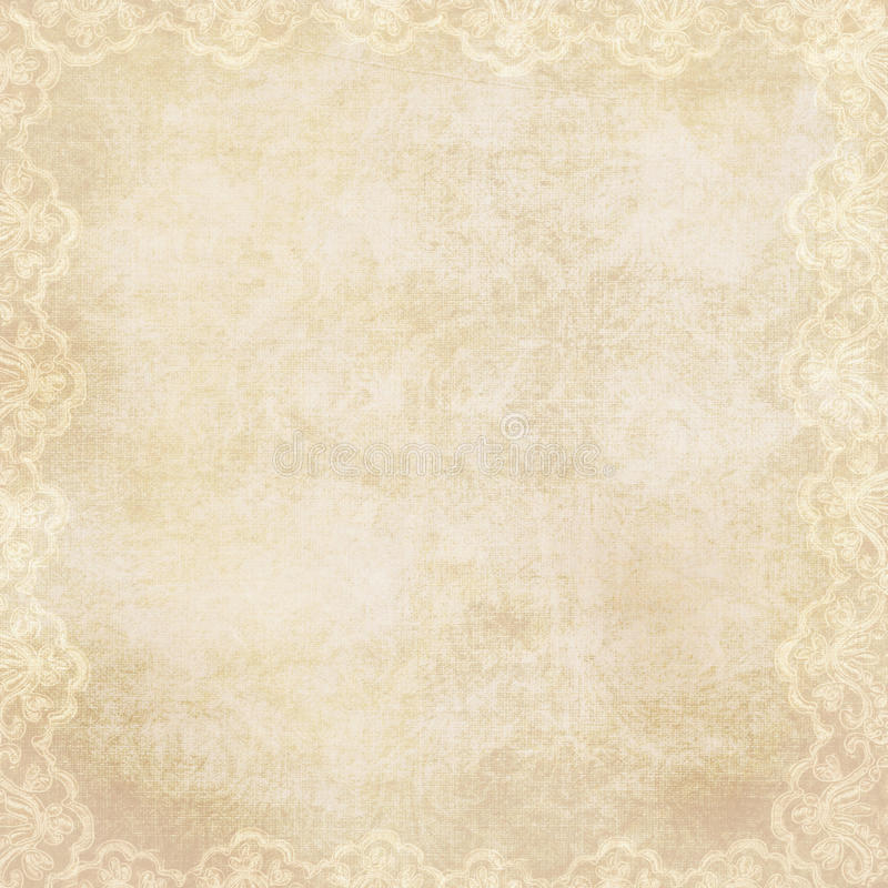 Vintage Background With Lacy Border Stock Photo