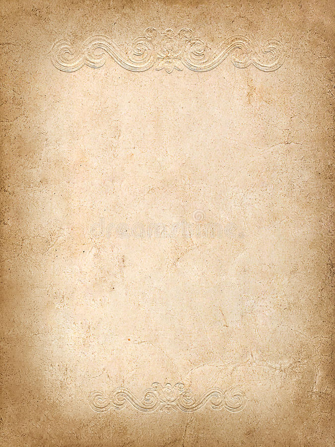 Download Vintage Background From Old Paper With Embossed Pattern Stock Illustration