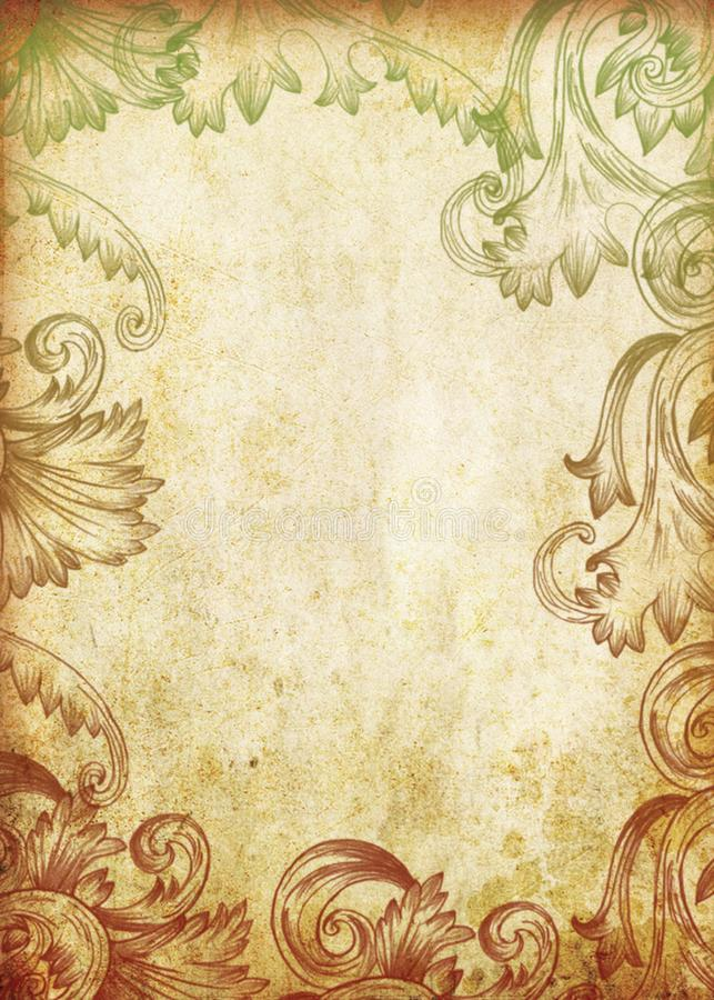 Vintage background old paper. Floral backgrounds stock photography
