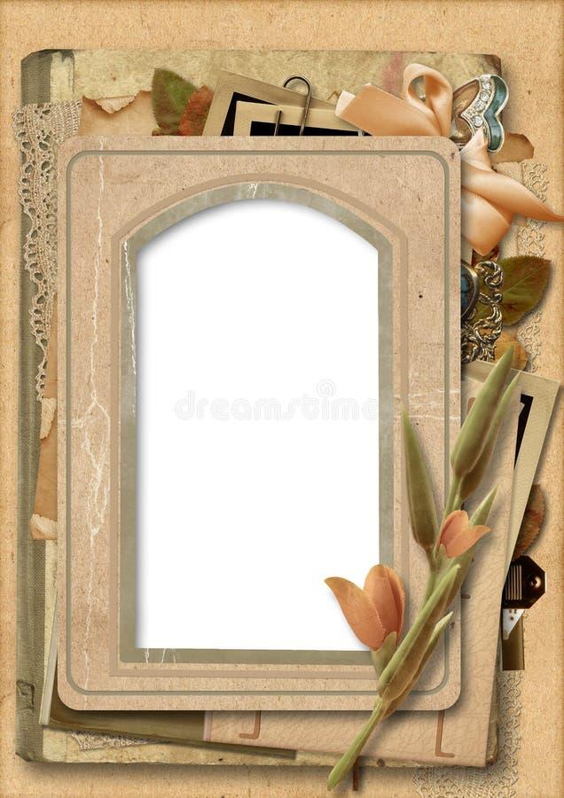 Download Vintage Background With Old Photo Frame Stock Illustration - Image: 29096103