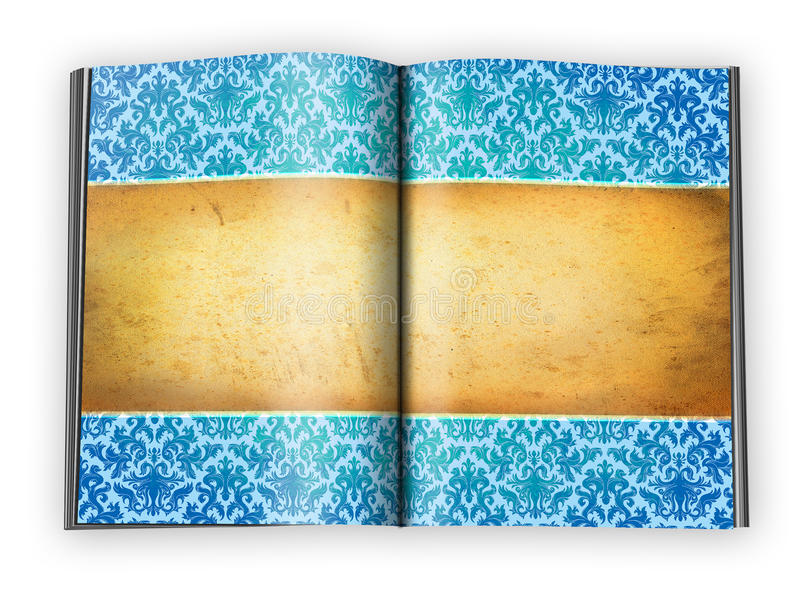 Vintage Background On An Open Book Pages Stock Photo