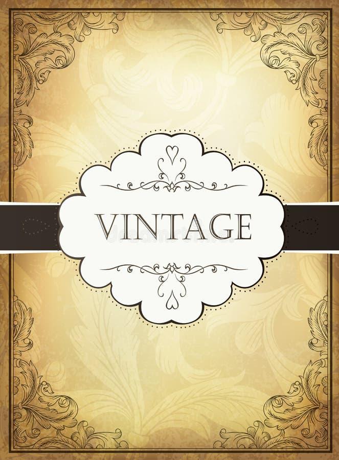 Download Vintage Background With Ornamental Frame. Stock Vector - Image: 26190972