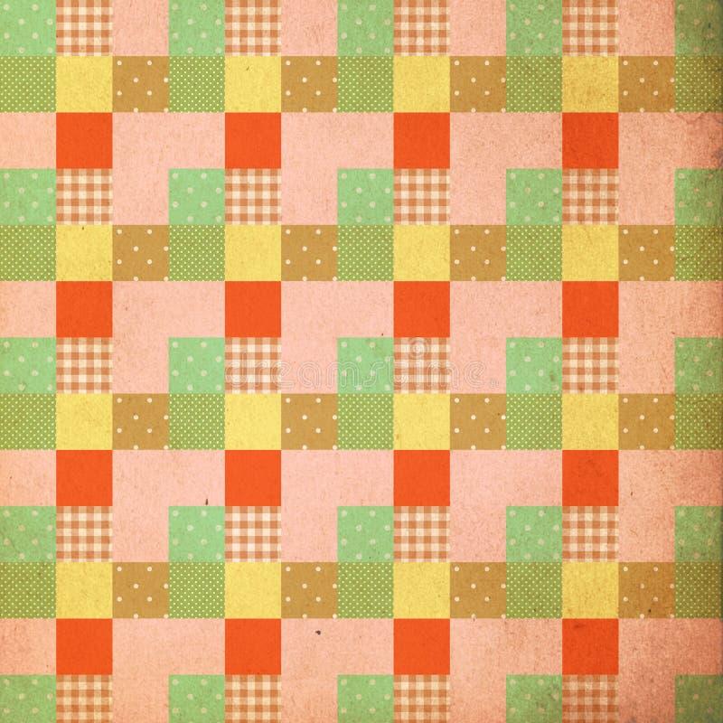 Vintage background, pattern, patchwork style, retro royalty free illustration