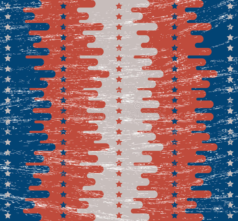 Vintage background. Retro texture. Flat style. Painted in the colors of American flag. Festive themes Independence Day 4th of July vector illustration