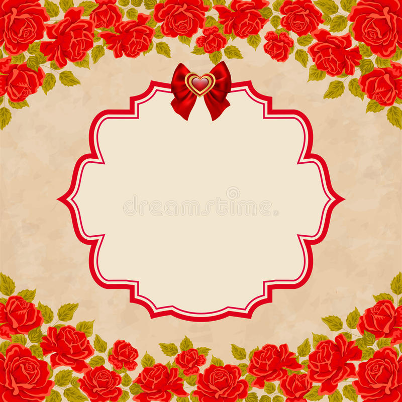 Vintage background with roses invitation greeting card template download vintage background with roses invitation greeting card template stock vector illustration of stopboris Image collections