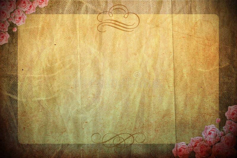 Download Vintage Background With Spring Flowers Stock Illustration - Illustration of lace, blue: 19295362