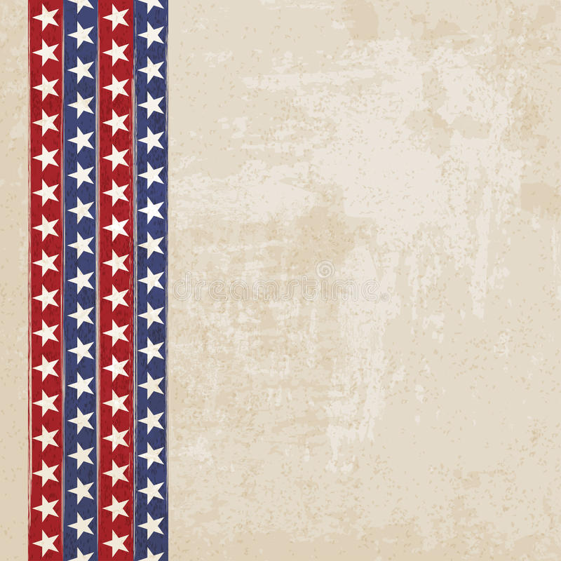 Vintage Background With Stripes And Stars Royalty Free ...