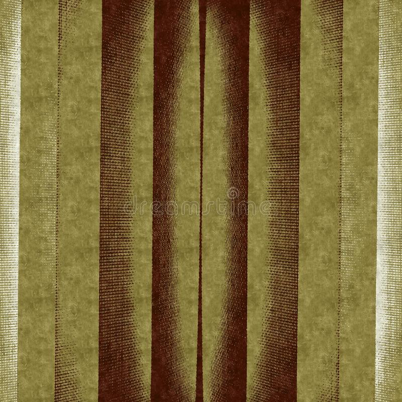 Vintage background. Strips of old fabric stock illustration