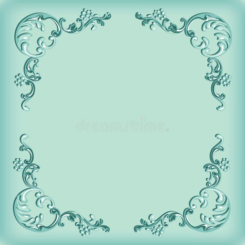 Vintage background, swirling decorative pattern frame stock illustration