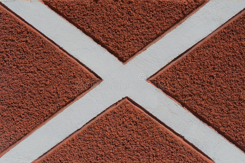 Vintage background texture of gray cross line in cement floor. stock images