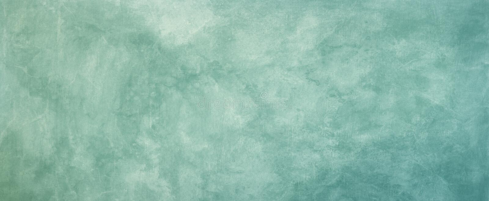 Vintage background texture. Old blue green marbled grunge textured design with faded distressed pattern. In pastel antique backdrop royalty free stock image