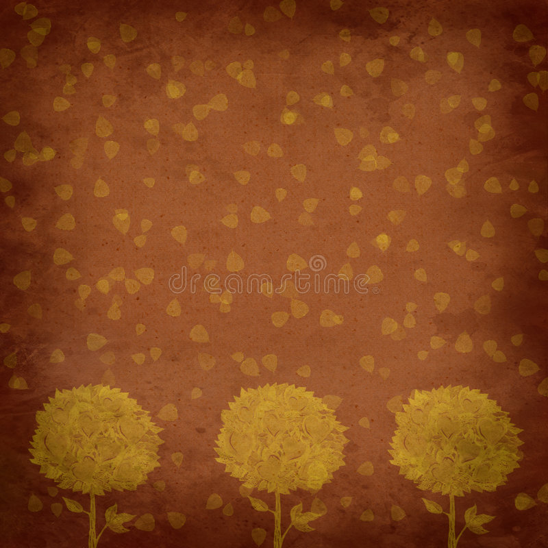 Vintage background - trees abstraction stock illustration