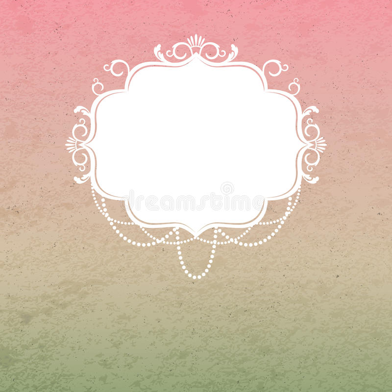 Free Vintage Background With Ornamental Frame Stock Photography - 30978912