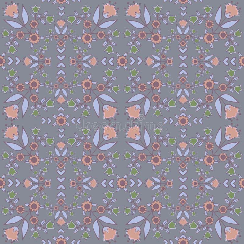 Vintage backgrounds, ethnic ornament, seamless pattern, vector illustration