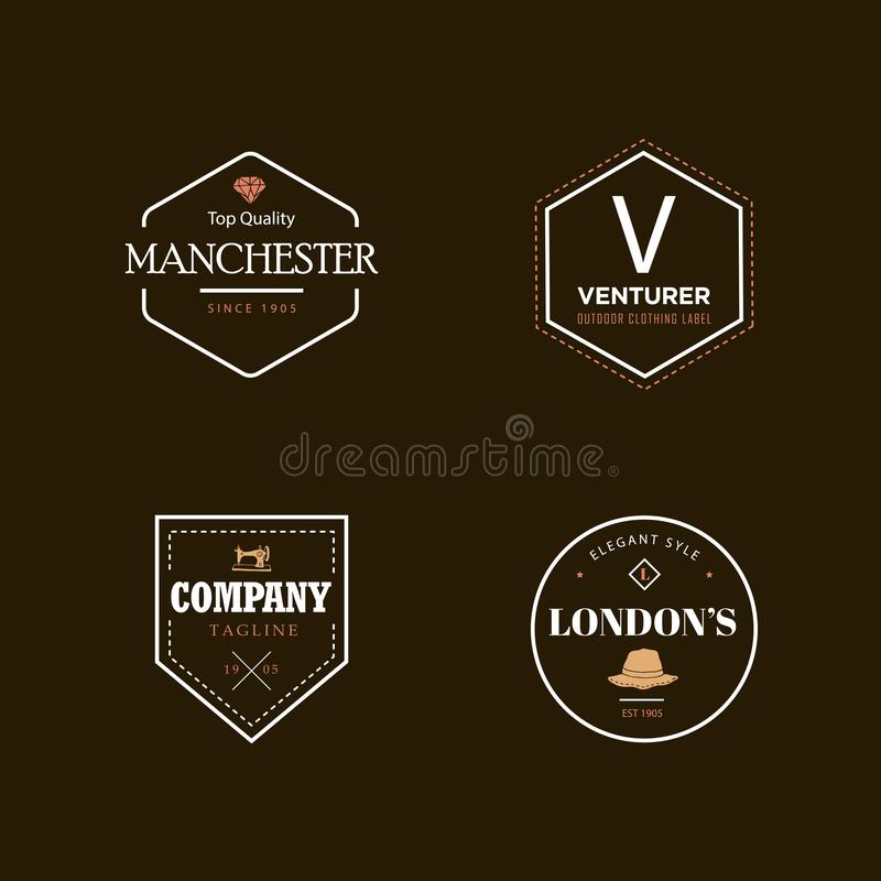 Vintage badge logo stock illustration