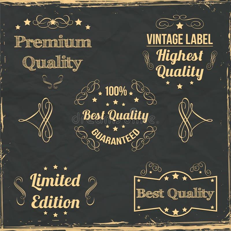 Vintage badges collection royalty free illustration