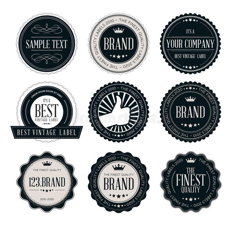 Vintage badges and labels, Logotype badges and labels in retro style vector illustration