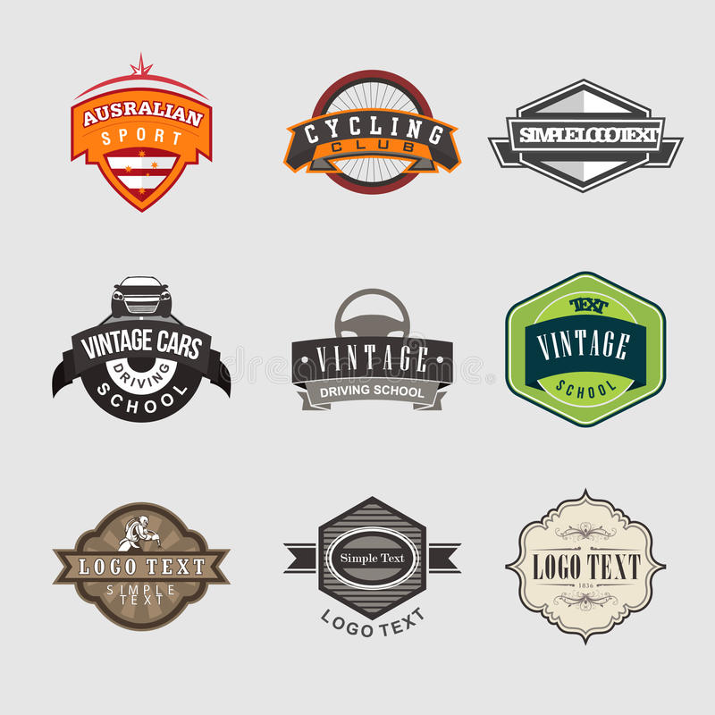 Vintage Badges Logo vector illustration