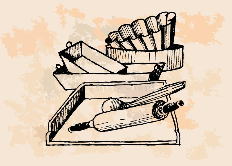 Download Vintage Baking Supplies stock vector. Illustration of cookies - 32499735