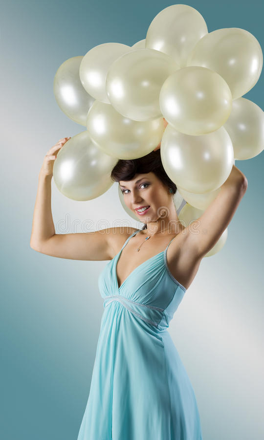 The vintage balloons party stock photography
