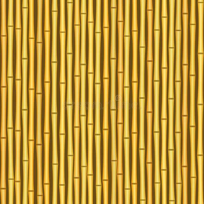 Vintage Bamboo Wall Seamless Texture Background Stock