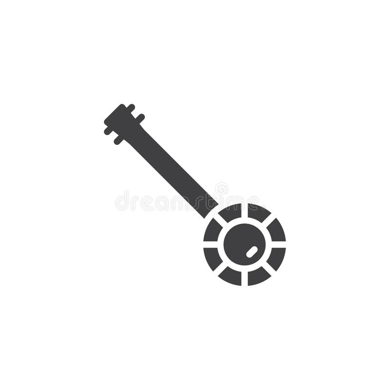 Vintage banjo vector icon vector illustration