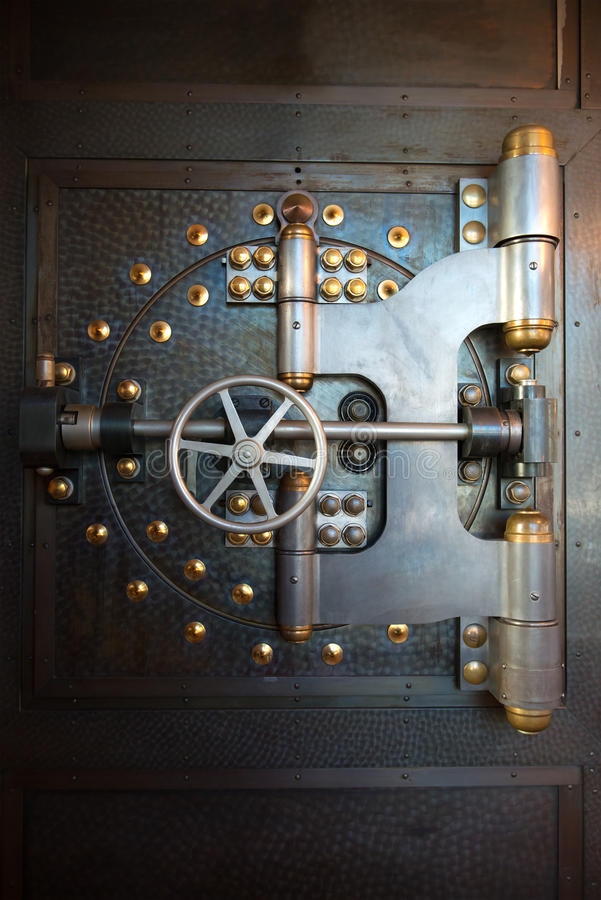 Free Vintage Bank Vault Door Safe Royalty Free Stock Photos - 50233678