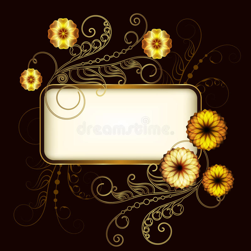 Download Vintage Banner With Flowers Stock Vector - Illustration: 35758509