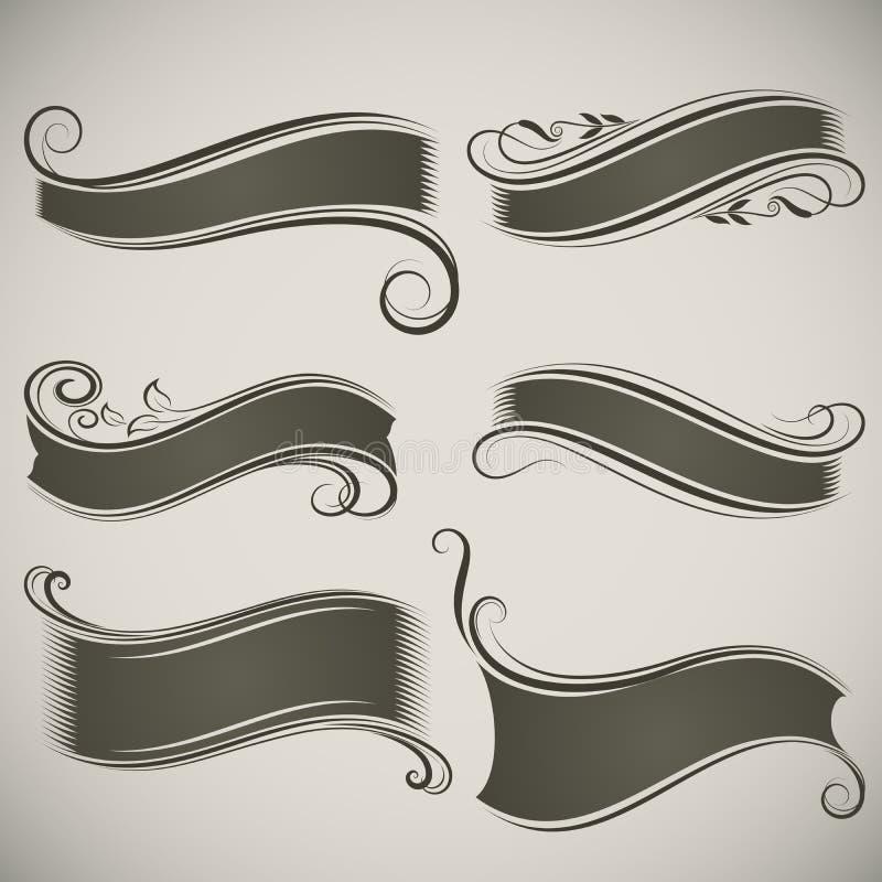 Vintage banner shapes stock illustration