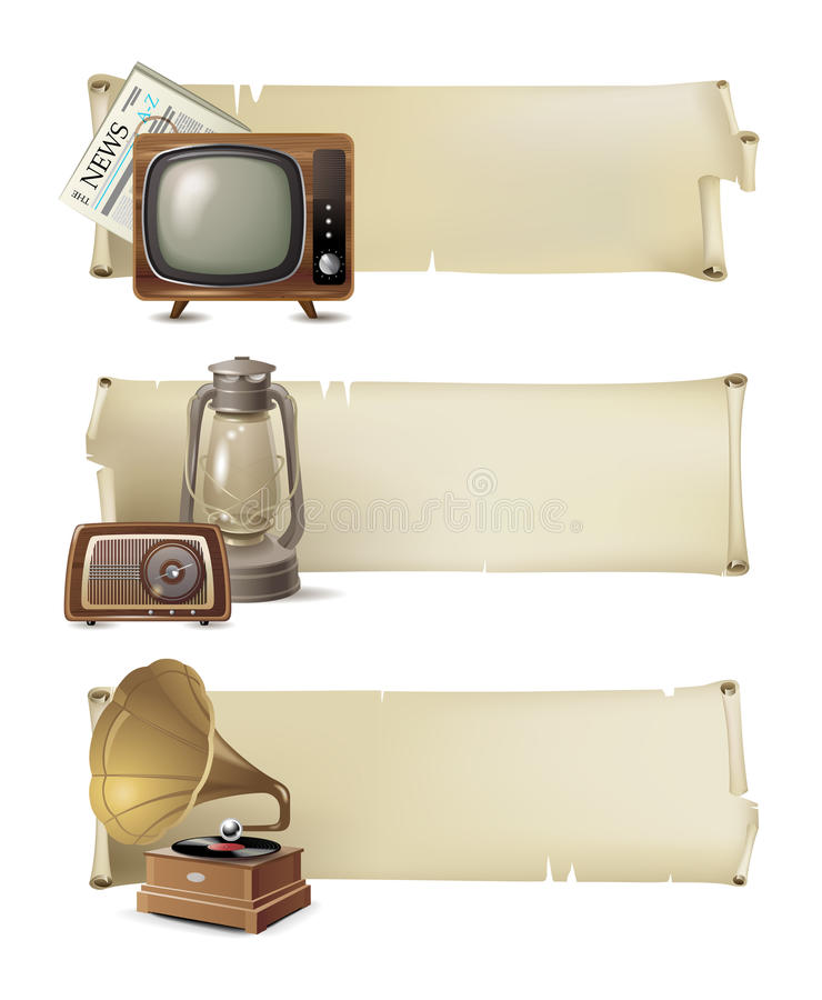 Download Vintage banners stock vector. Image of newspaper, design - 28272998