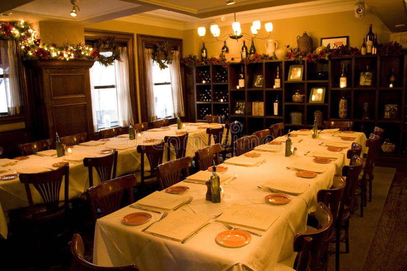 Vintage Bar Restaurant Private Party Room Royalty Free Stock Photography