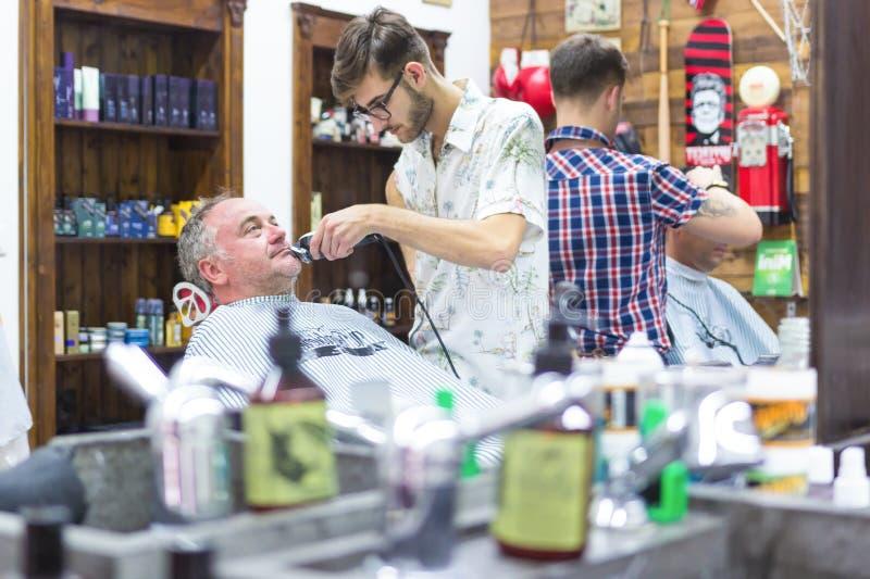 Vintage barber shop. stock photography