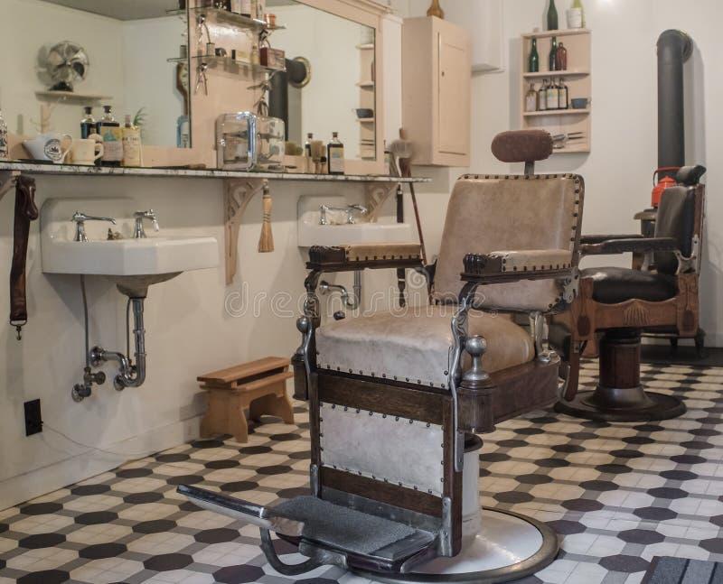 Vintage barbershop stock images
