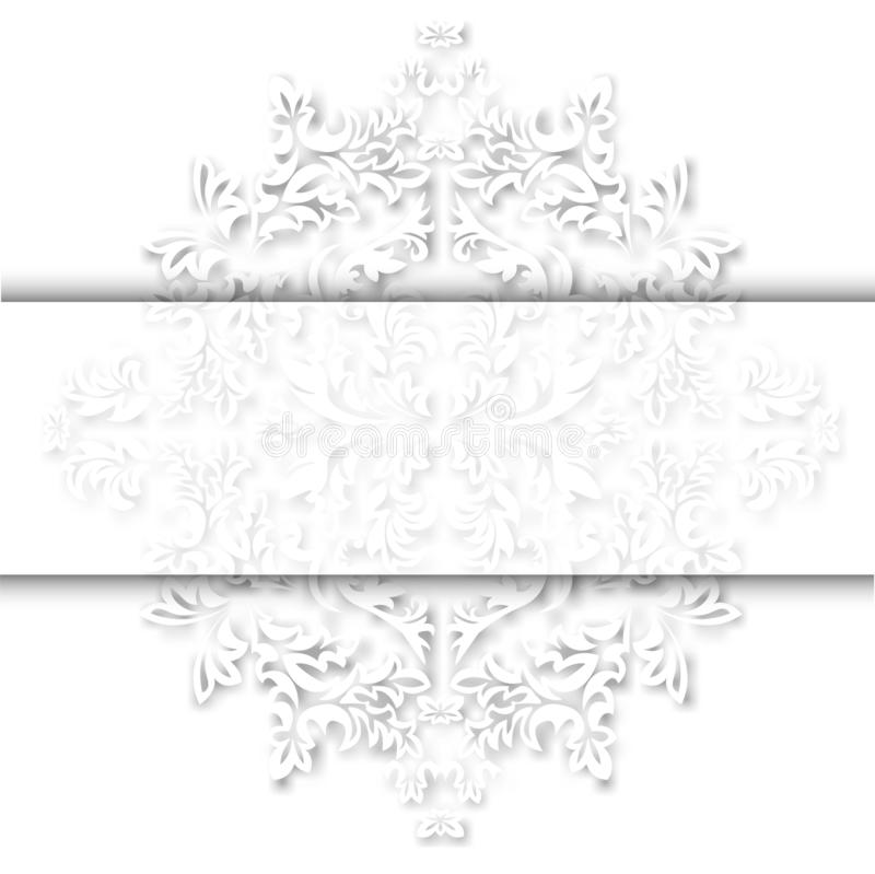 Vintage baroque frame scroll ornament engraving border floral retro pattern antique style acanthus foliage swirl decorative design. Element filigree calligraphy royalty free illustration